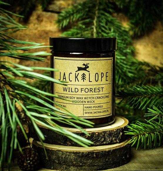 Świeca zapachowa, jackalope, wild forest, wosk sojowy, świeca, świeczka zapachowa, świeca sojowa
