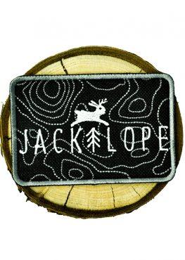 naszywka, jackalope, topography map