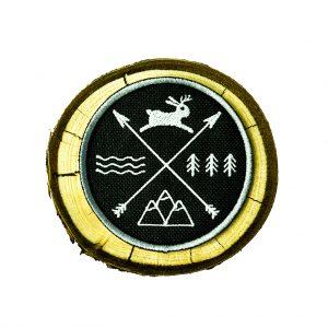 naszywka jackalope, water, mountain, forest